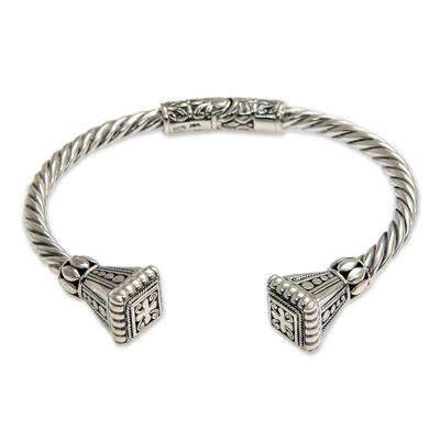 Balinese Sterling Silver Cuff Bracelet