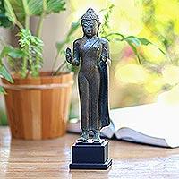 Bronze Statuette Abhaya Mudra Buddha Bronze Buddha Statuette From Bali
