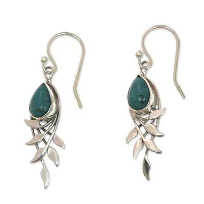 Sterling Silver and Reconstituted Turquoise Earrings