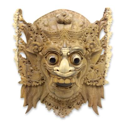 Balinese Hindu Decorative Wood Wall Mask from Bali