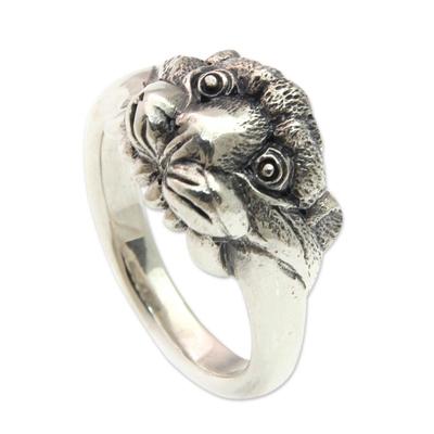 Handmade 925 Sterling Silver Tiger Cub Ring for Men