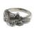 Men's sterling silver ring, 'Feisty Ocelot' - Unique Men's Ocelot Ring Crafted from Sterling Silver (image 2a) thumbail
