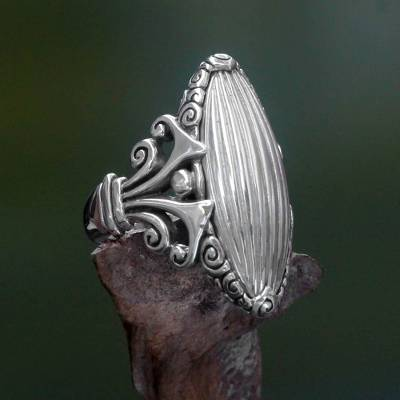 Sterling silver cocktail ring, 'Matahati' - Original Artisan Design Sterling Silver 925 Cocktail Ring