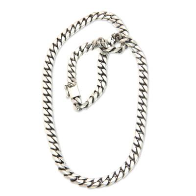 ae6ad88b6b5ac Unicef Uk Market Men S Sterling Silver Chain Necklace From Bali