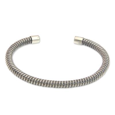 Sterling silver cuff bracelet, 'Fantasy Dreamer' - Artisan Crafted Fair Trade Jewelry Sterling Silver Bracelet