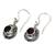Garnet dangle earrings, 'Scarlet Ladybug' - Fair Trade Sterling Silver and Garnet Dangle Earrings (image 2g) thumbail