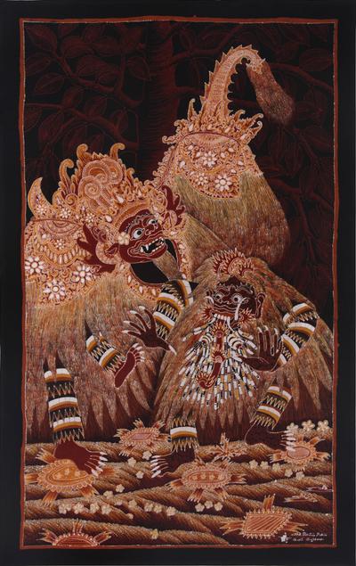 Indonesian Style All-Cotton Batik Wall Art from Bali - Calonarang ...