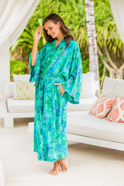 Batik robe, Ocean Jungle