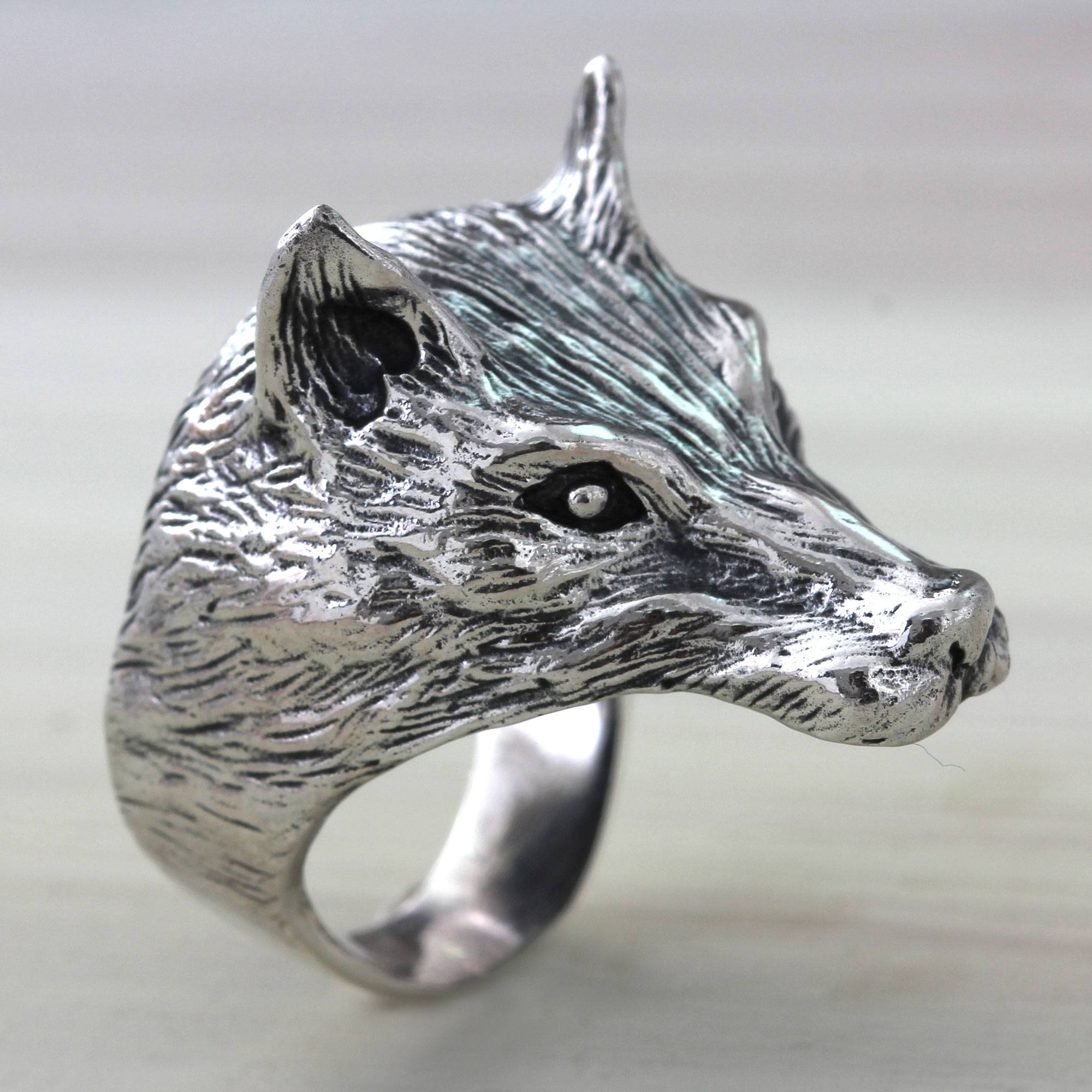 Unicef Uk Market Animal Themed Sterling Silver Wolf Ring