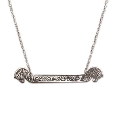 Sterling silver pendant necklace, 'Kuda Lumping' - Fair Trade Indonesian Sterling Silver Horse Necklace