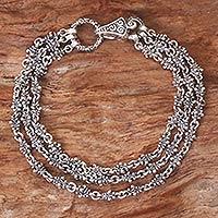 Sterling silver bracelet, 'Rampai'
