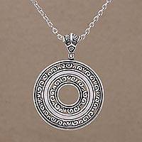 Sterling silver pendant necklace, 'Destiny'