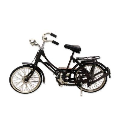 Iron sculpture, 'Buffalo Bicycle' (medium) - Handmade 12-Inch Miniature Javanese Colonial Bicycle