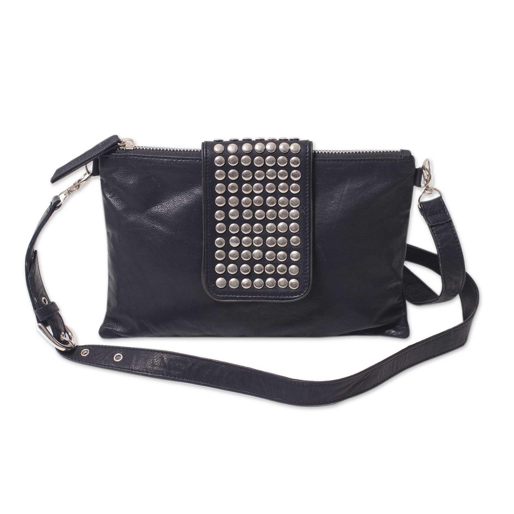 Novica Leather shoulder bag, Empire