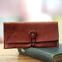 Leather wallet, 'Batavia Brown' - Brown Leather Wallet Crafted by Hand in Java
