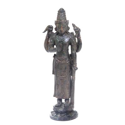 Bronze sculpture, 'Ancient King Kertarajasa' - Antiqued Bronze Kertarajasa Replica Sculpture Hindu Art