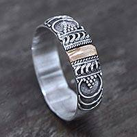 Gold accent band ring, 'Miraculous Love'