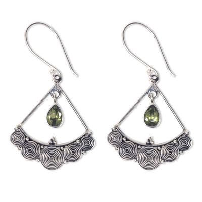 Sterling Silver Chandelier Earrings with Peridot