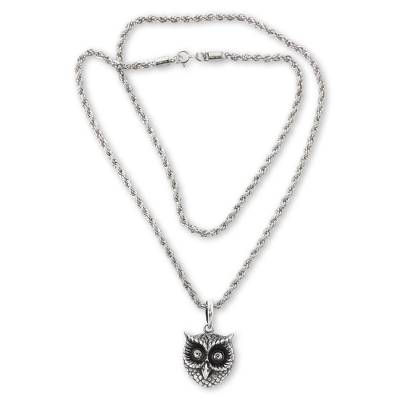 Balinese Artisan Crafted Silver Bird Necklace
