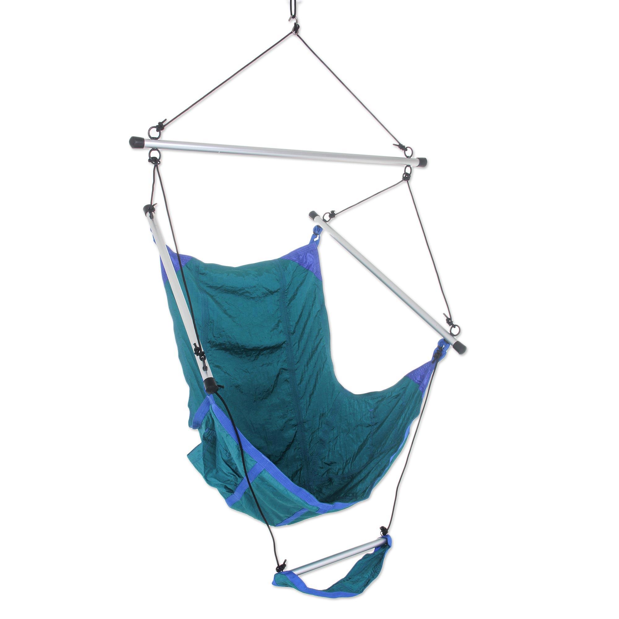Teal Parachute Hammock Swing Portable Hanging Chair Nusa Dua