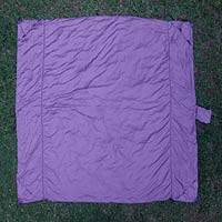 Parachute beach blanket, 'Sanur Purple' - Java Nylon Parachute Silk Purple Beach Blanket