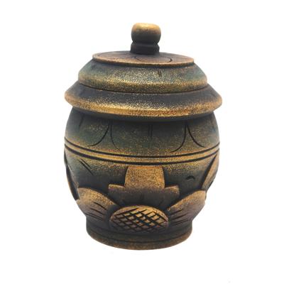 Floral Hand Carved Mahogany Wood Decorative Box