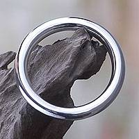 Sterling silver bangle bracelet, 'Unlimited Shine'