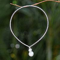 Cultured pearl necklace, 'Moon's Reflection'