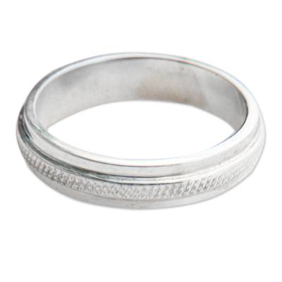 Fair Trade Artisan Jewelry Sterling Silver Band Ring