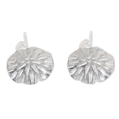 Bali Handcrafted Sterling Silver Leaf Earrings
