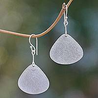 Sterling silver dangle earrings, 'Butterfly Wings'