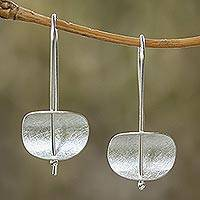 Sterling silver drop earrings, Urban Minimalism