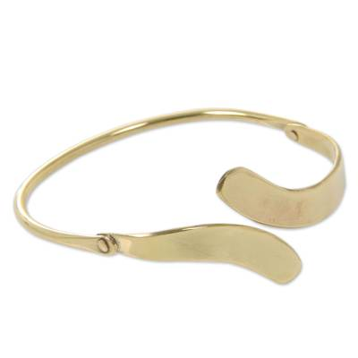 Balinese Brass Bangle Bracelet Crafted by Hand