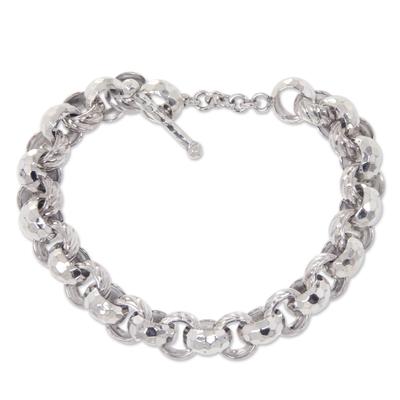 Sterling silver chain bracelet, 'Alternatives' - Artisan Crafted Sterling Silver Chain Bracelet from Bali
