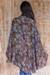 Rayon jacket, 'Denpasar Lady in Brown' - Brown Rayon Batik Open Front Jacket Handmade in Bali (image 2b) thumbail