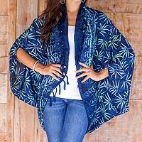 Rayon jacket, 'Denpasar Lady in Navy'
