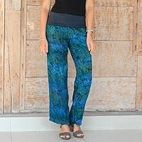 Rayon batik pants, 'Kenanga'