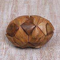 Teakwood puzzle, 'Small Pillow'