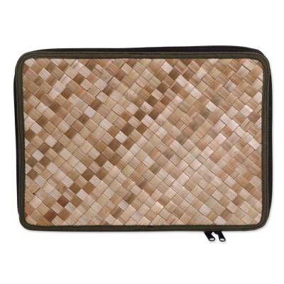 Natural Fiber and Cotton 15 Inch Laptop Sleeve from Bali