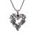Garnet pendant necklace, 'Heart of the Vineyard' - Heart Shaped Sterling Silver Pendant Necklace with Grapes (image 2c) thumbail