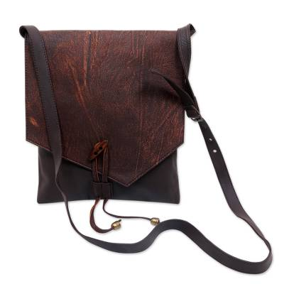 cd5fdb8a844df Leather cross-body bag