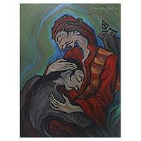 'Kembalinya Anak yang Hilang' (2010) - Balinese Original Biblical Acrylic Painting (2010)