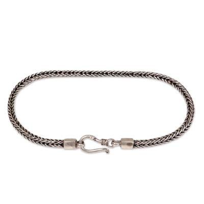 Hand Crafted Sterling Silver Chain Bracelet from Bali