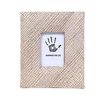 Natural fiber photo frame, 'Banana Cream' (2x3) - Beige Natural Fiber Handmade Photo Frame for 2x3 Photo