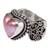 Cultured mabe pearl cocktail ring, 'Romance in Pink' - Romantic Heart Shaped Pink Cultured Mabe Pearl Ring (image 2a) thumbail