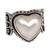 Cultured mabe pearl cocktail ring, 'Romance in White' - Ornate Cocktail Ring with Heart Shaped White Mabe Pearl (image 2b) thumbail