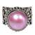 Cultured mabe pearl cocktail ring, 'Purely Pink' - Artisan Crafted Pink Mabe Pearl Cocktail Ring from Bali (image 2b) thumbail