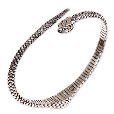 Unique Sterling Silver Snake Bracelet from Bali