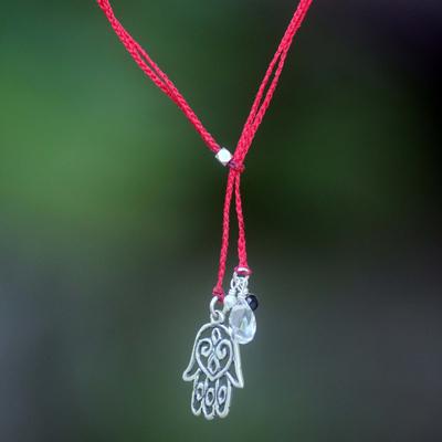 Hand Made Multigem Pendant Necklace Quartz Pearl Indonesia