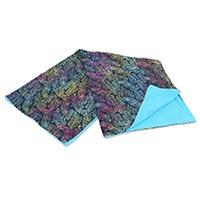 Cotton and rayon beach towel, 'Rainbow Fern' - Two Sided Batik Print Beach Towel from Balinese Artisan